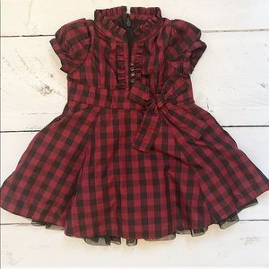 Baby Gap Plaid Taffeta Tulle Holiday Dress